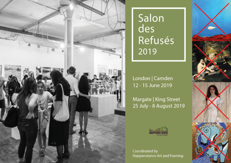 Salon des Refuses 2019 by Happenstance Art and Framing, London June 2019